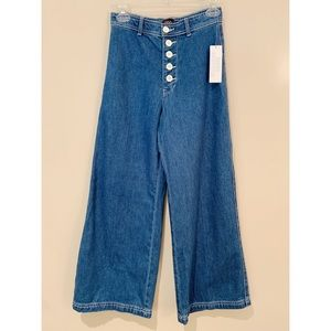 NWT BDG High Waisted Button Fly Boho Flare Jeans
